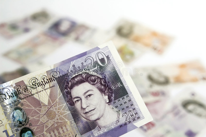 Download Twenty  pounds stock image. Image of banknot, bill, sell - 4553155