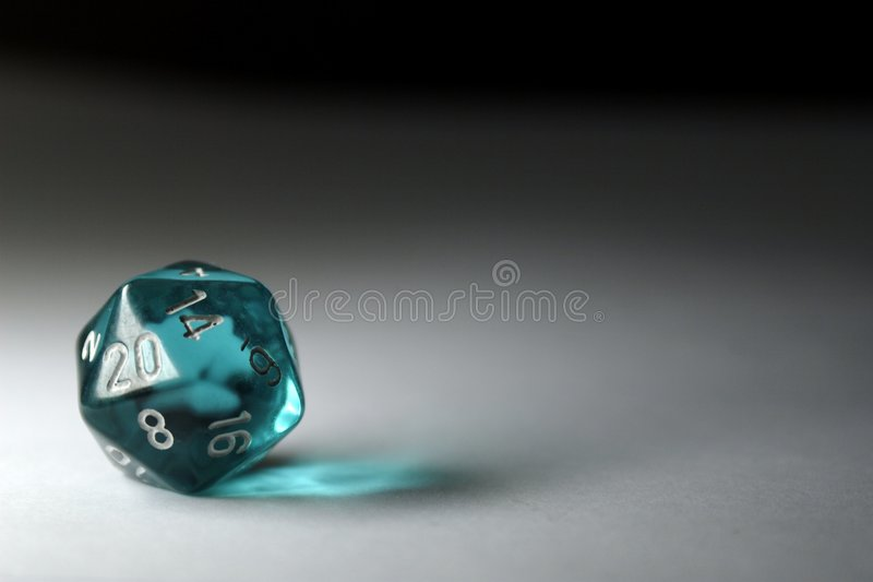 Twenty-Sided Die royalty free stock images