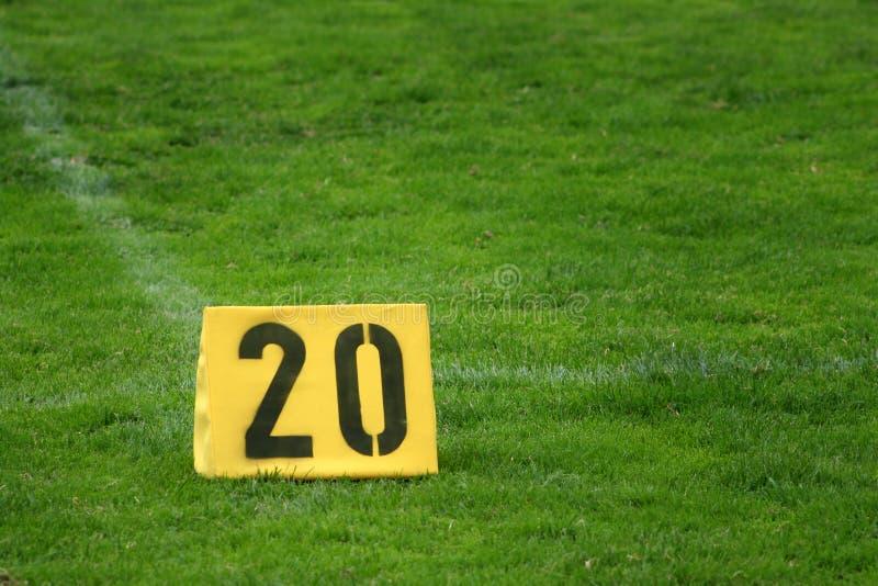 Twenty yard mark royalty free stock photos