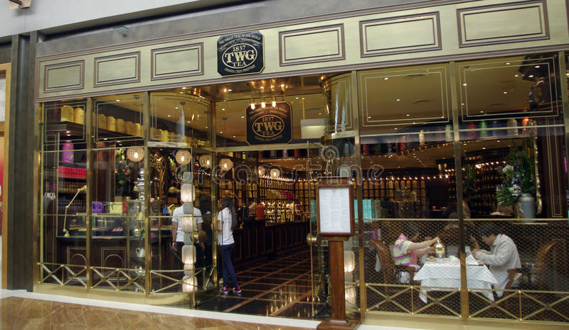 Download TWG tea shop editorial stock photo. Image of business - 31808428