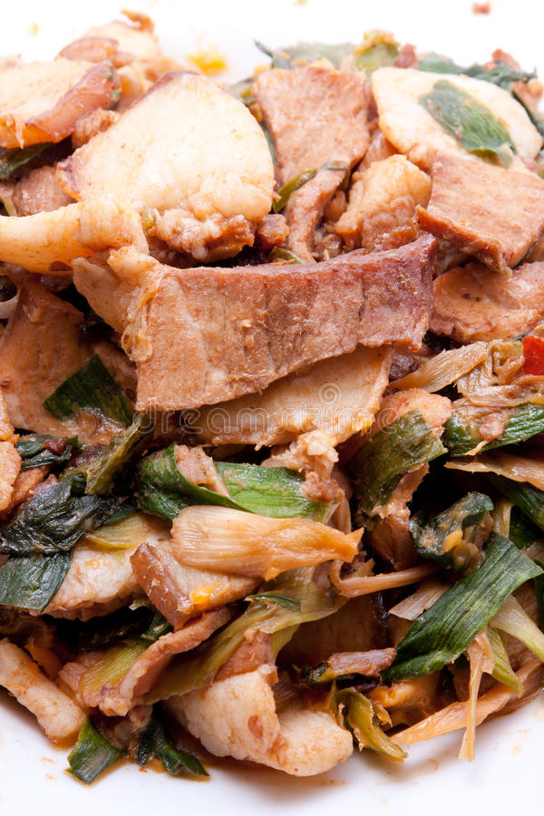 Download Twice-cooked pork stock photo. Image of jiang, szechwan - 24229984