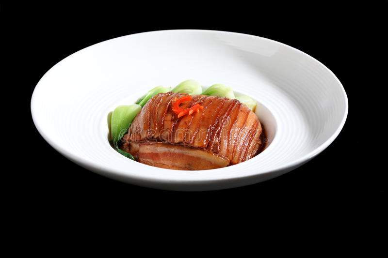 Twice-cooked pork. Chinese food - twice-cooked pork royalty free stock image