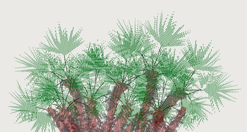 Twiddled серый цвет palmetto 2 яркий, гнездо ладоней стоковые изображения rf