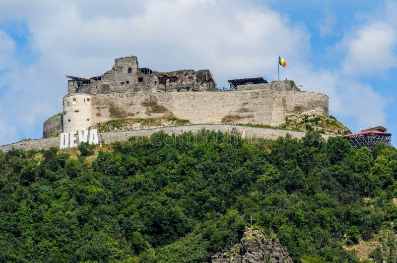 Twierdza średniowieczna Deva, hrabstwo Hunedoara, Rumunia fotografia royalty free