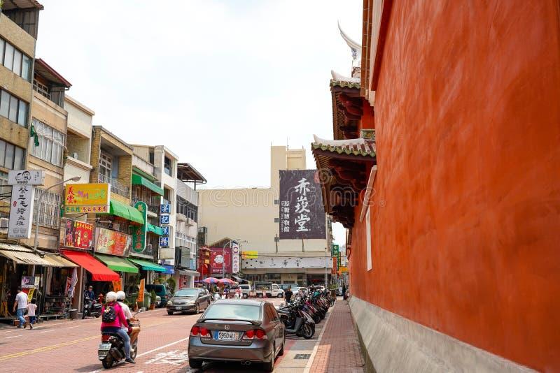 Twierdzi świątynię nazwanych Tainan Ofiarnych obrządków Wojenna świątynia Wojenny bóg, także, Tainan, Tajwan zdjęcie stock