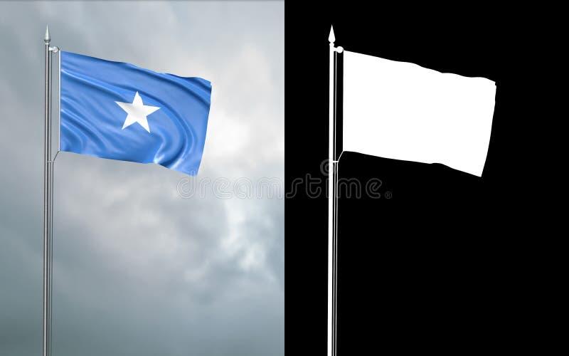 Twierdzi flagę Federacyjna republika Somalia royalty ilustracja