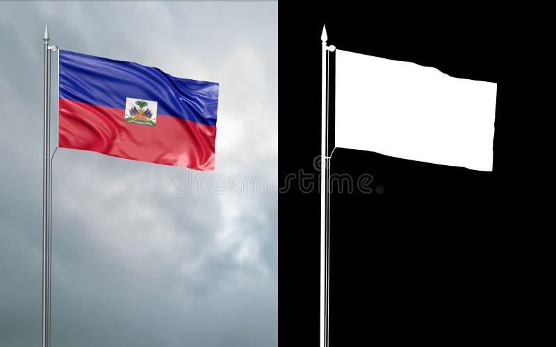 Twierdzi flagę republika Haiti z alfa kanałem ilustracji