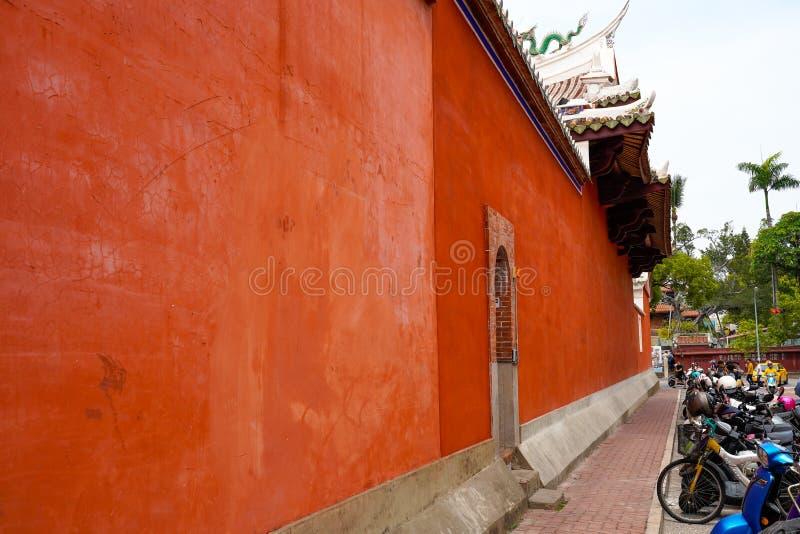 Twierdzi ?wi?tyni? nazwanych Tainan Ofiarnych obrz?dk?w Wojenna ?wi?tynia Wojenny b?g, tak?e, Tainan, Tajwan fotografia royalty free