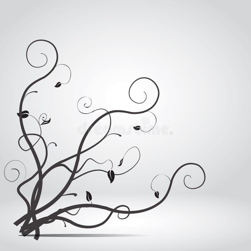 Twigs emotion. Black emotion twigs on the gray background royalty free illustration