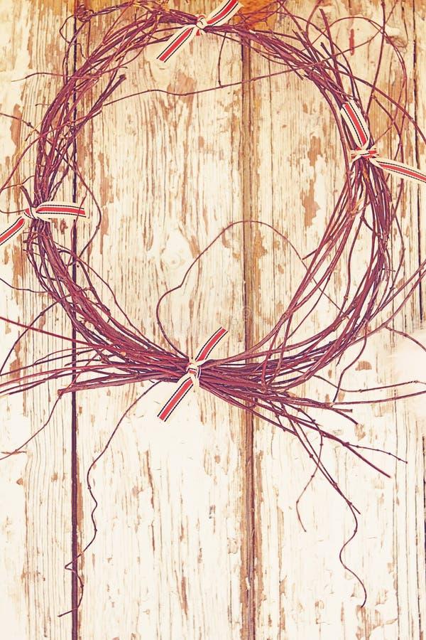 Download Twigs wreath stock illustration. Illustration of rustic - 24231246