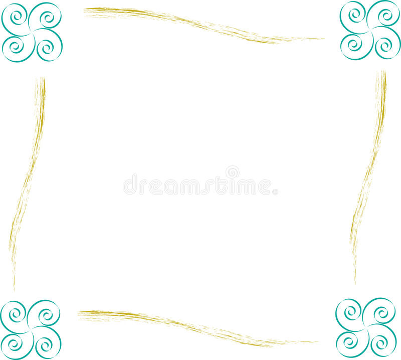 Twiirly Picture Frame vector stock photo
