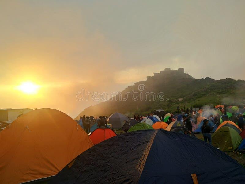 Twiligh dans Rupac, Pérou image libre de droits
