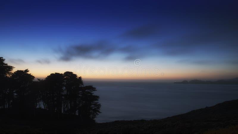 Twilight Сан-Франциско стоковое фото rf