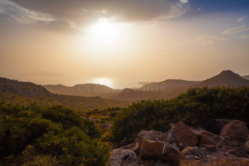 Twilight on Aegina stock photos