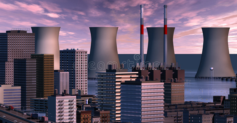 Download Twilight city with floods stock illustration. Image of world - 3131371