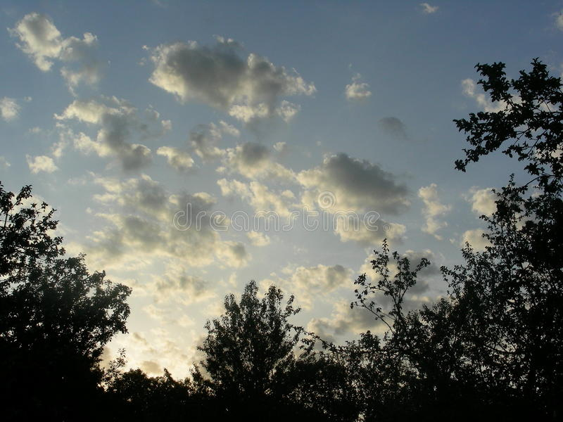 Twilight Clouds in the Gardens stock image