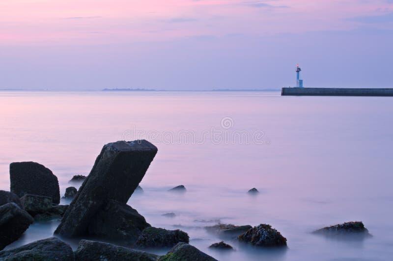 Twilight coastal morning royalty free stock image