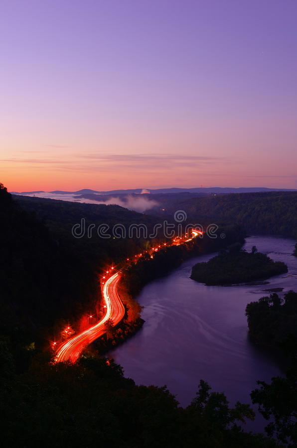 Download Twilight At Delaware Water Gap Stock Image - Image: 28669417