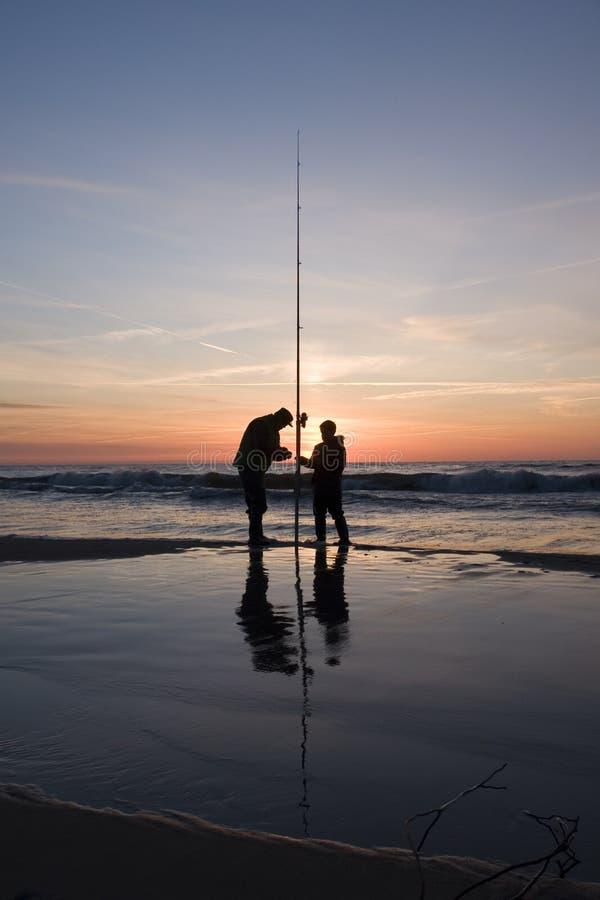 Twilight fishing royalty free stock image