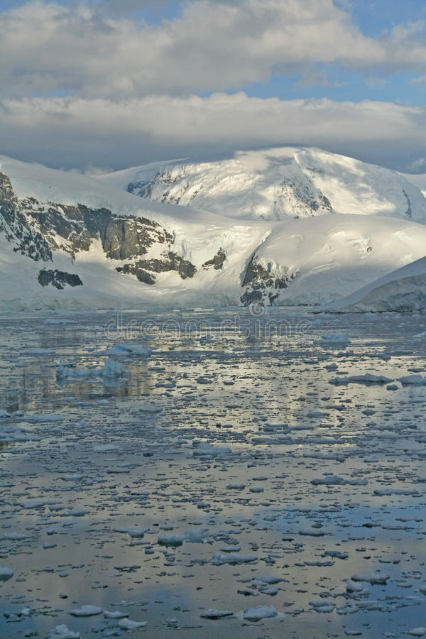 Download Twilight: Icy Mountains Reflected On Calm Sea Stock Photo - Image: 18569862
