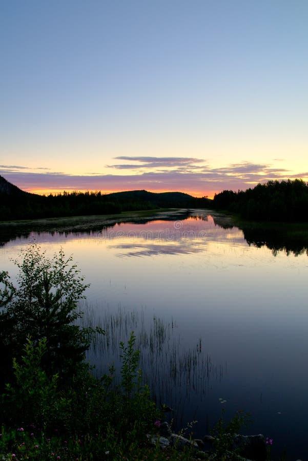 Twilight lake stock images