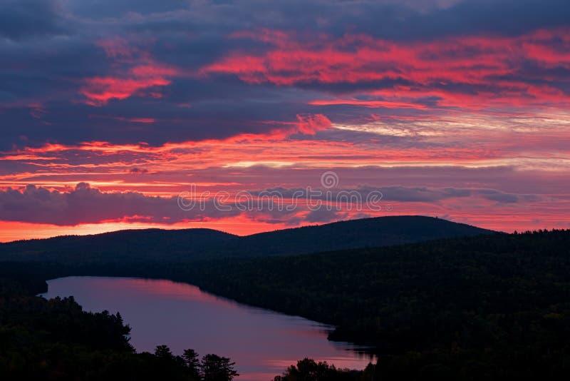 Twilight Lake Fanny Hooe stock photos