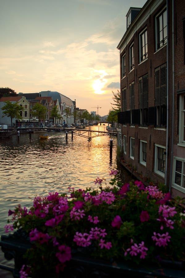 Twilight in Leiden royalty free stock photos