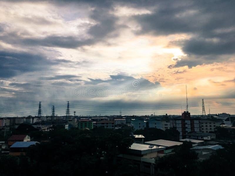Twilight Over Urban Rooftops Free Public Domain Cc0 Image