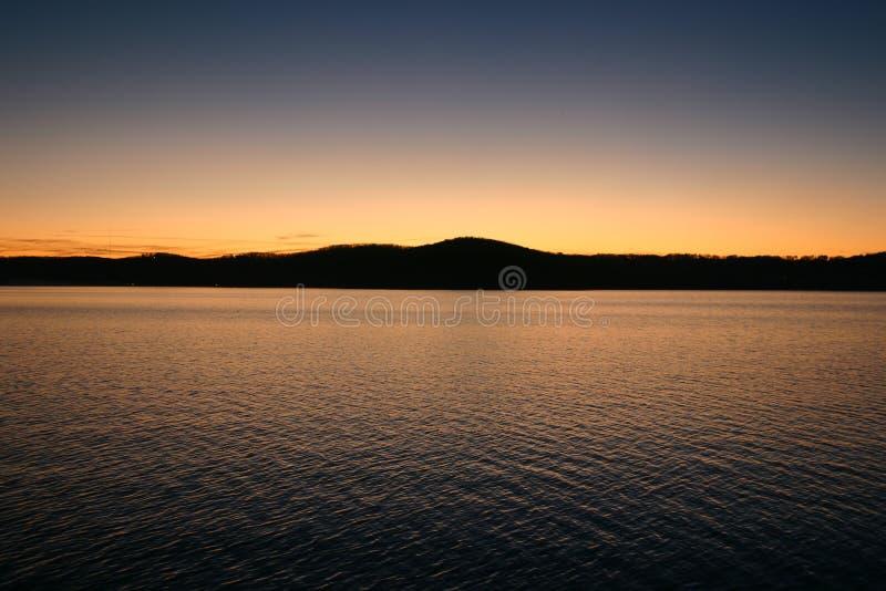 Twilight Reflection over Table Rock Lake royalty free stock image