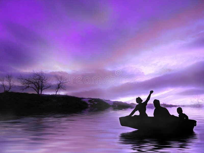 Twilight ride royalty free stock images