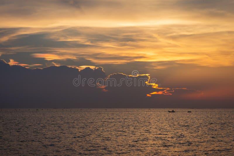 Twilight sky background. Colorful Sunset sky and cloud.vivid sky in twilight time background.Fiery orange sunset sky. stock photography