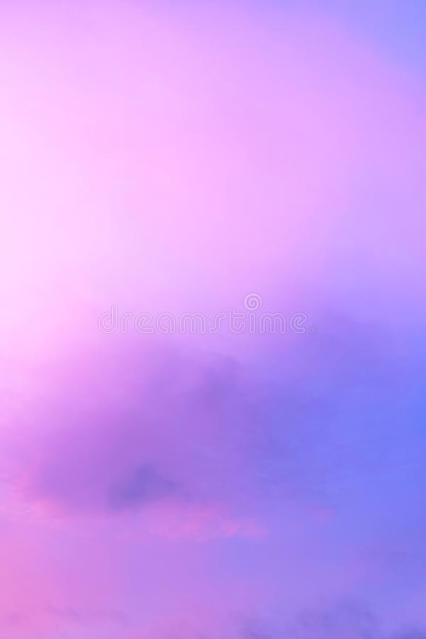 Twilight sky with effect of light pastel tone. Colorful sunset of soft clouds royalty free stock photos