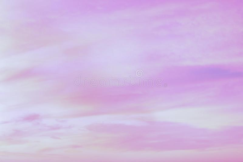 Twilight sky with effect of light pastel tone. Colorful sunset of soft clouds stock images