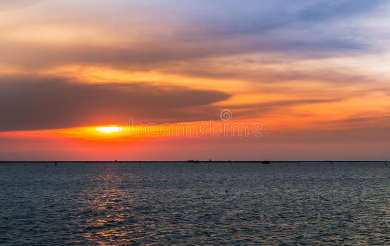 Twilight sky and sun set royalty free stock images