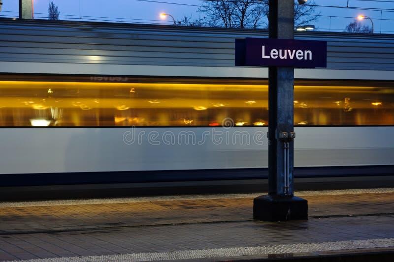 Download Twilight station stock photo. Image of railroad, leuven - 4457970