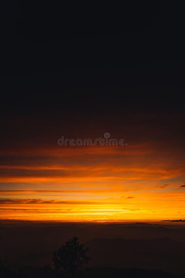 Twilight sunset Evening light on the mountain. Travel stock images