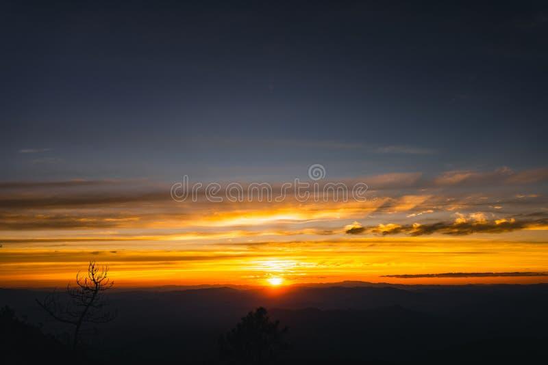 Twilight sunset Evening light on the mountain. Travel stock photos