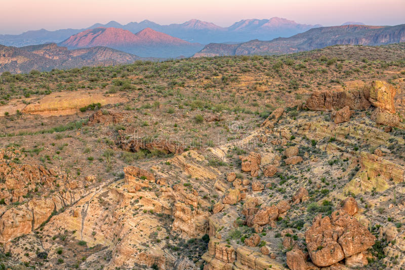 Download Twilight, Superstition Mountains Stock Photo - Image: 25492896