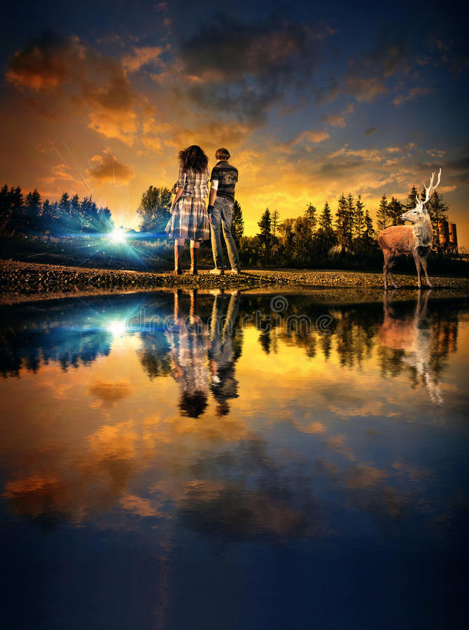Download Twilight view stock image. Image of countryside, cool - 18085117
