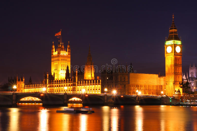 Twilight at Westminster, United Kingdom. Twilight at Westminster at London, United Kingdom royalty free stock photo