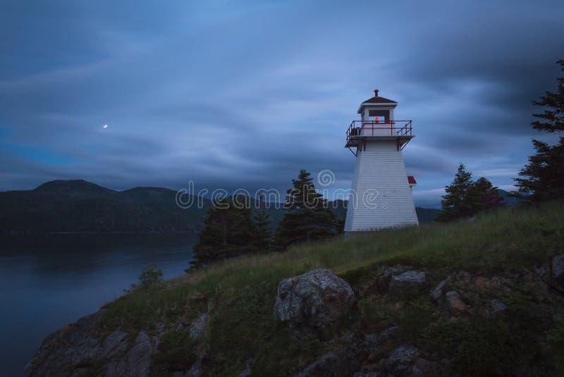 Twilight, Woody Point, Gros Morne National Park, Newfoundland & royalty free stock photos