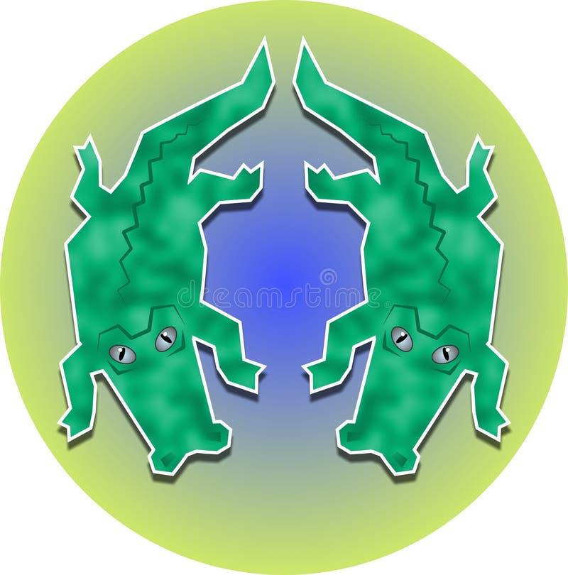 Download Twin aligatorach ilustracji. Ilustracja złożonej z krokodyle - 41701