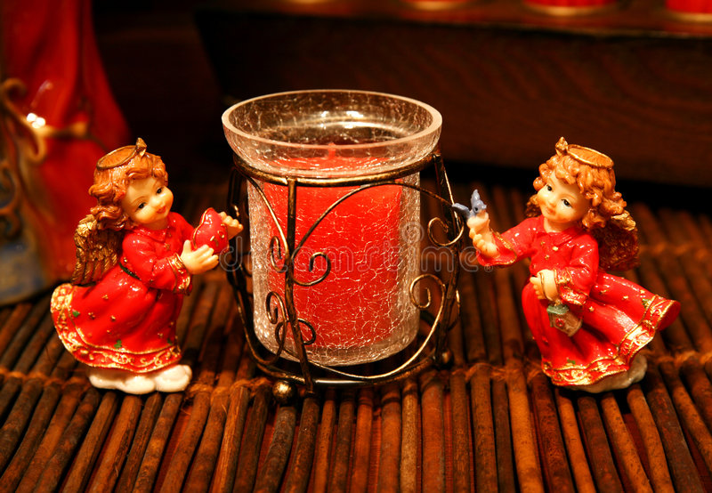 Download Twin angels and a candle stock photo. Image of mythological - 1502306