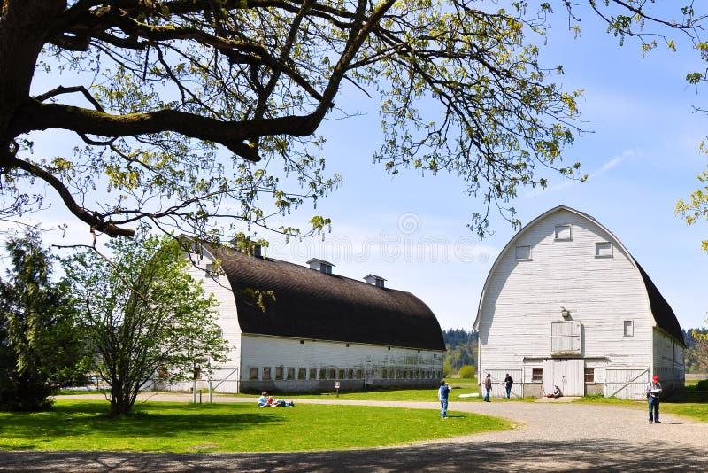 Twin Barns royalty free stock image