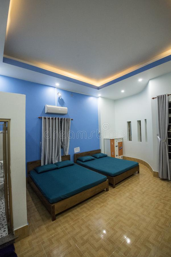 Twin Bed Hotel Room: Twin Bed Hotel Room Stock Image. Image Of Interior, Jinan