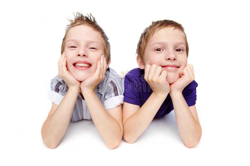 Twin Brothers Stock Images