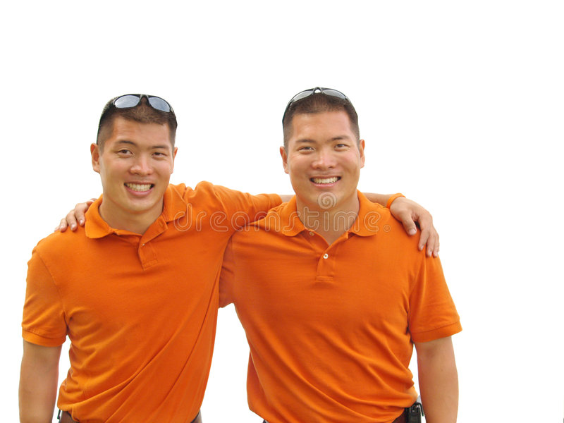 Twin brothers royalty free stock photo