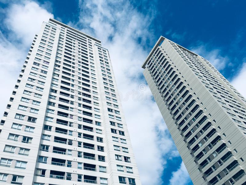 Twin buildings royalty free stock photography
