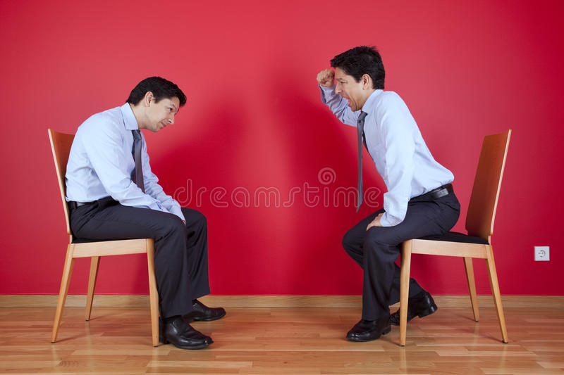 Download Twin businessman fighting stock photo. Image of attitude - 19501414