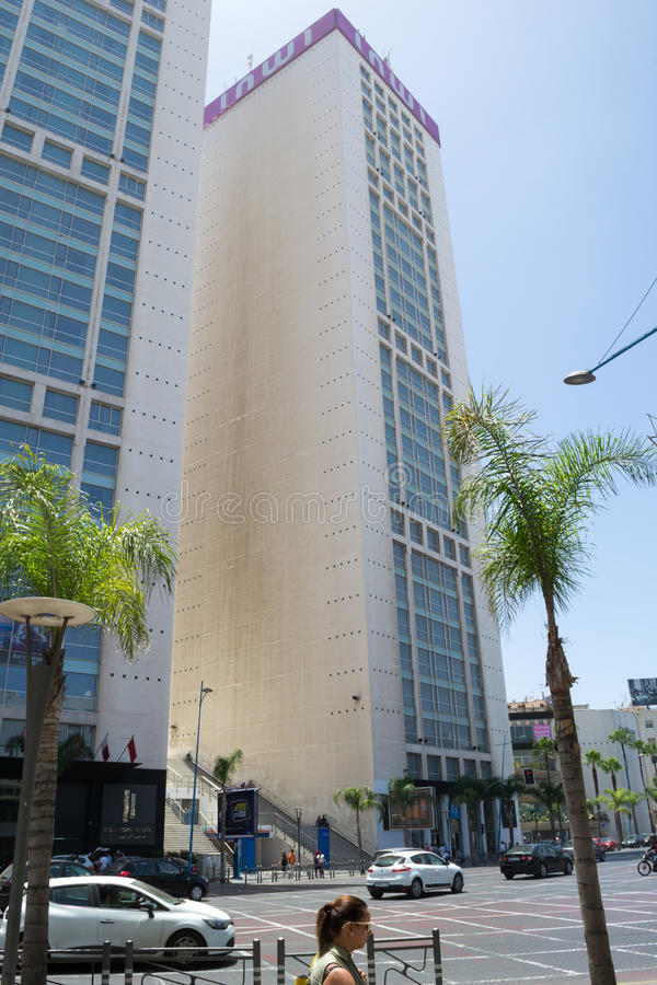 Twin center buildings in Casablanca #2 stock image